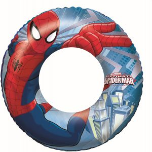 Flotador hinchable redondo de spiderman