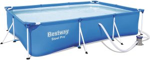 Piscina hinchable rectangular Bestway con depuradora