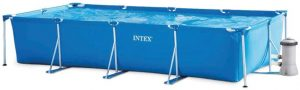 Piscina hinchable rectangular Intex con depuradora