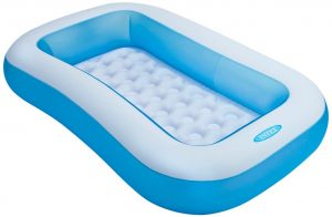 Piscina hinchable rectangular para niños Intex azul