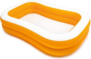 Piscina hinchable rectangular para niños Intex naranja
